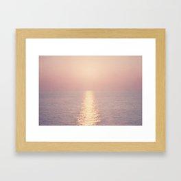cashmere rose sunset Framed Art Print