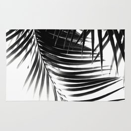 Palm Leaves Black & White Vibes #1 #tropical #decor #art #society6 Rug