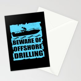 Boat | Beware Of Offshore Drilling | Boating Gift Stationery Cards