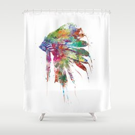 Headdress Shower Curtain