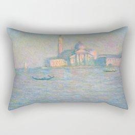 """Claude Monet """"The Church of San Giorgio Maggiore, Venice"""" Rectangular Pillow"""