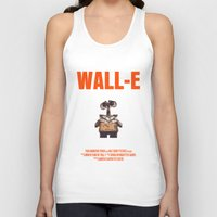 wall e Tank Tops featuring Wall-E by FunnyFaceArt