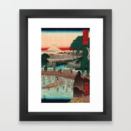 Vintage Woodblock - Ikkoku Bridge Japan Framed Art Print