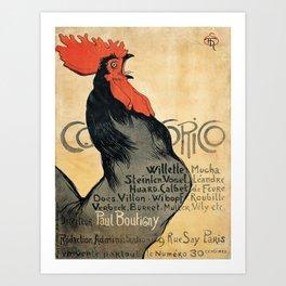 Vintage poster - Cocorico Art Print