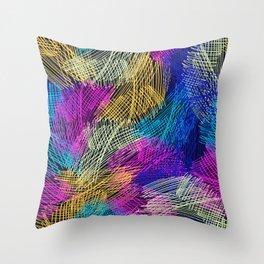Bright  seamless pattern brush stripped Throw Pillow