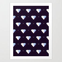 Diamonds pattern Art Print