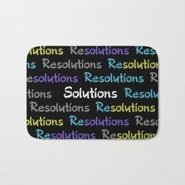 Resolutions becomes Solutions Bath Mat