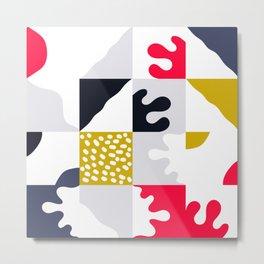 Abstract Naive Composition 001 Metal Print