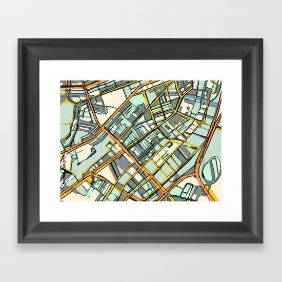 Abstract Map- Boston South End by carlandcartography