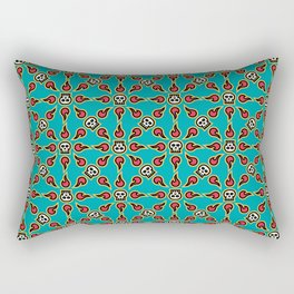 Skull Fire Rectangular Pillow