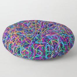 Scribble Synapse Floor Pillow