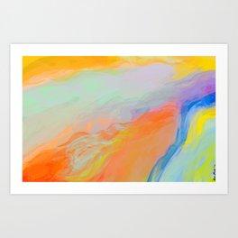 Cascading Colors Art Print