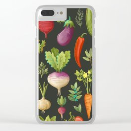 Garden Veggies Clear iPhone Case