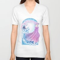 the last unicorn V-neck T-shirts featuring Last Unicorn by Roots-Love