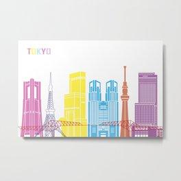 Tokio skyline pop Metal Print