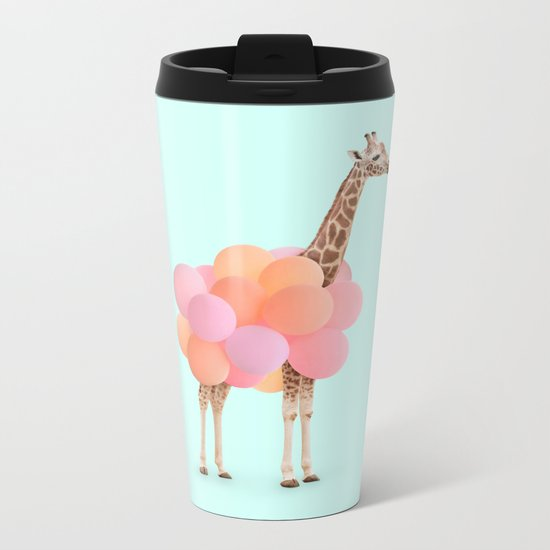 GIRAFFE PARTY Metal Travel Mug