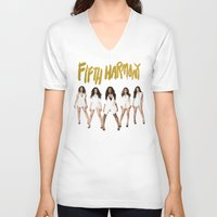 fifth harmony V-neck T-shirts featuring Fifth Harmony Boss by TSMM
