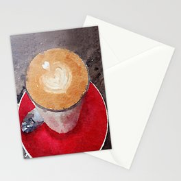 I Heart Coffee Stationery Cards