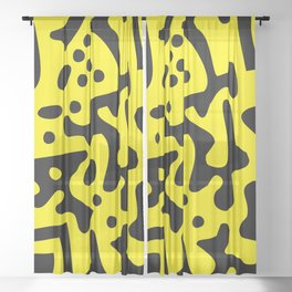 QR Clothes Yellow - Accessories Sheer Curtain