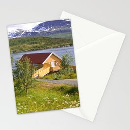 house on a fjord Stationery Cards