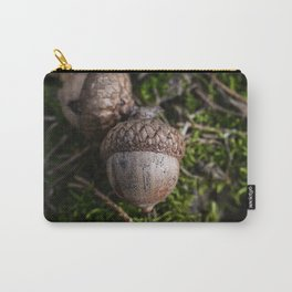 Fall Acorn on Green Moss Carry-All Pouch