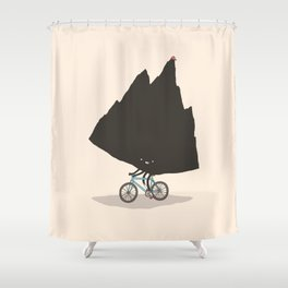 Mountain Biking Shower Curtain