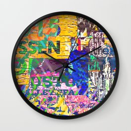 Tropical Pop Art Painting Wall Clock