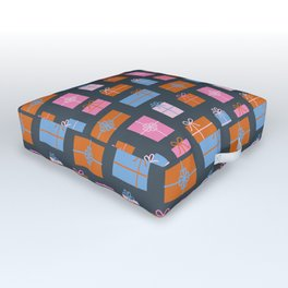 Gift boxes seamless pattern Outdoor Floor Cushion