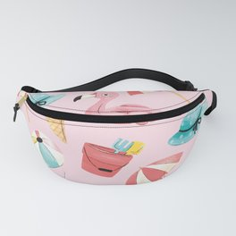 Creative pink pattern Fanny Pack