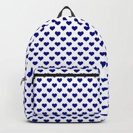 Large Australian Flag Blue Love Hearts on White Backpack