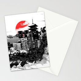 Abstract Tokyo-Shinjuku/Kyoto - Japan Stationery Cards