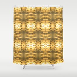 GoldenRows Shower Curtain