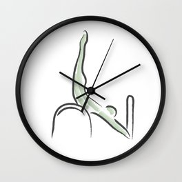 Pilates Inspiration Wall Clock