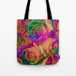 Funky Roses XII Tote Bag