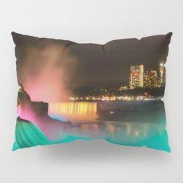 Niagara Falls at Night Pillow Sham
