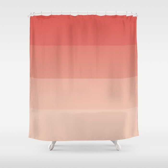 coral ombre Shower Curtain by anngardner | Society6