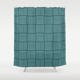 Spirit Water Stripe - Blue Shower Curtain