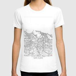 San Juan Map White T-shirt