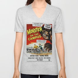 The Monster of the Campus, vintage horror movie poster Unisex V-Neck