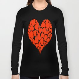 A Heart Full Of Love Red Valentine Hearts Within A Heart Long Sleeve T-shirt