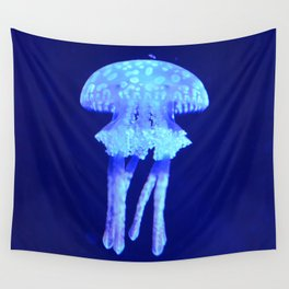 Blue jellyfish Wall Tapestry