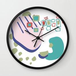 La liberte abstract creative illustration Wall Clock