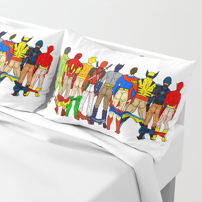 Superhero Butts Pillow Sham