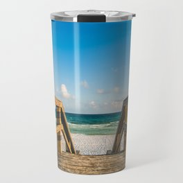 Head to the Beach - Boardwalk Leads to Summer Fun in Florida Travel Mug