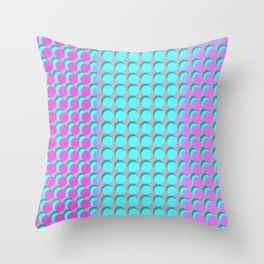 Pink & Aqua Spots on Taupe Throw Pillow