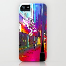 Hollywood Boulevard in the night iPhone Case
