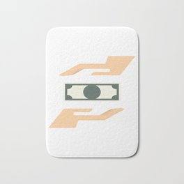 Money Transaction Bath Mat