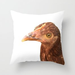 chicken stink eye Throw Pillow