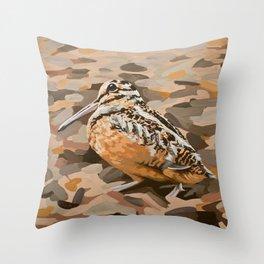 American Woodcock Throw Pillow