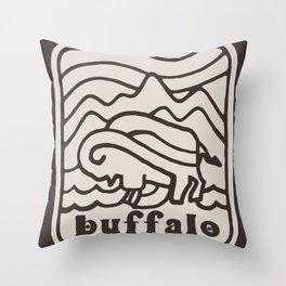 BFLO BISON Throw Pillow
